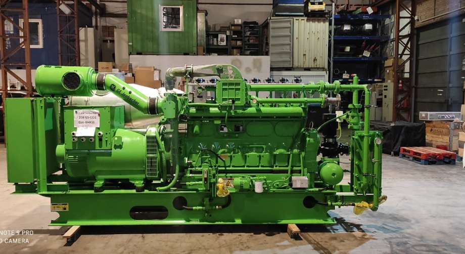 253 KW Jenbacher J 208 GS-CO2 Gas-BHKW Generator